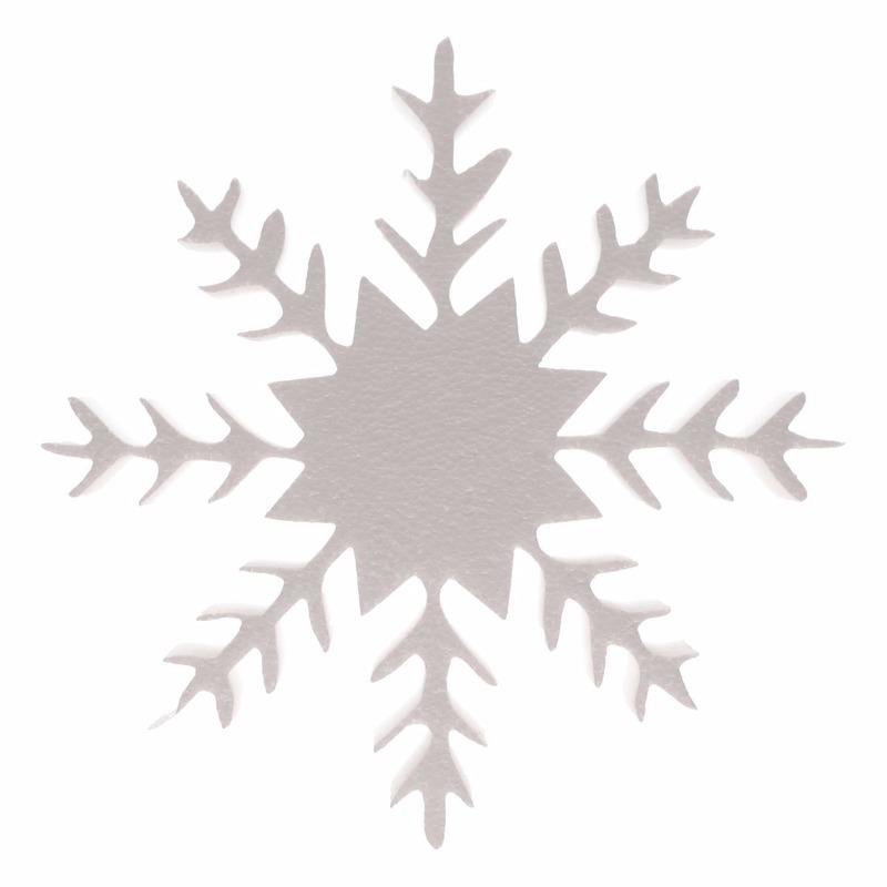 Piepschuim vorm ijskristal deluxe 30 cm