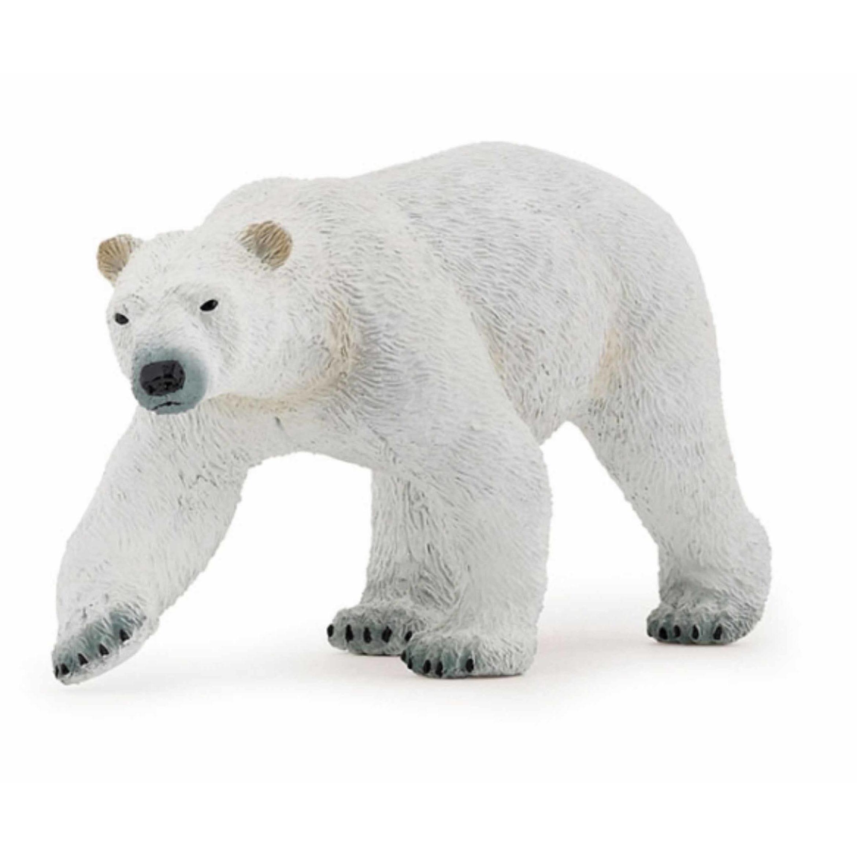 Plastic speelgoed figuur ijsbeer 14 cm