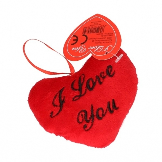 Pluche I Love You kussentje 10 cm