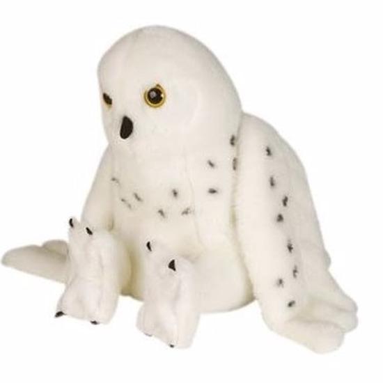Pluche sneeuwuil knuffel 30 cm