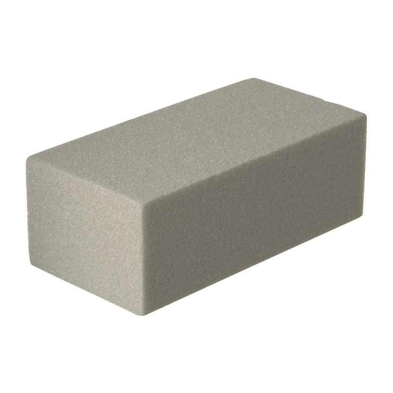 Rechthoekig grijs steekschuim/oase droog 23 x 7,5 x 11 cm