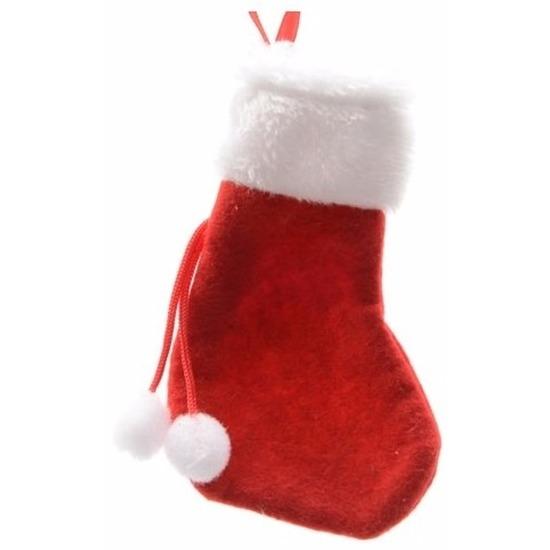 Rode mini kerstsok 15 cm