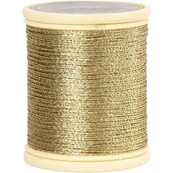 Rolletjes Goud metallic draad 40 meter