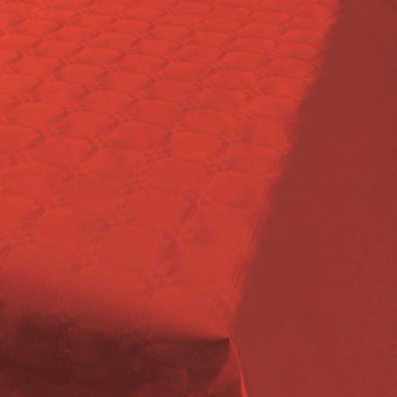 Rood papieren tafellaken/tafelkleed 800 x 118 cm op rol