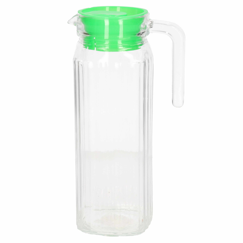Schenkkan met groene deksel 1 liter