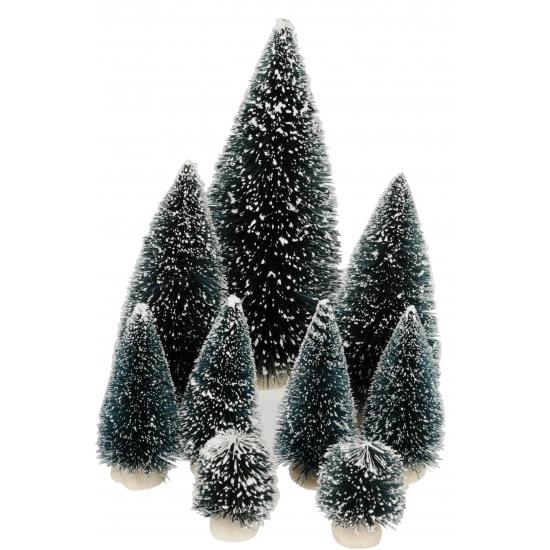 Set van 9 kerstbomen