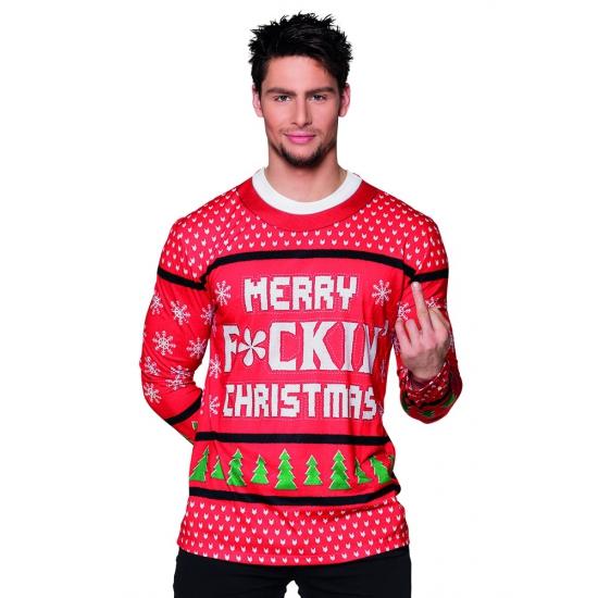Shirt kerst Merry f-ing christmas