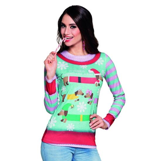 Shirt kerst opdruk dames