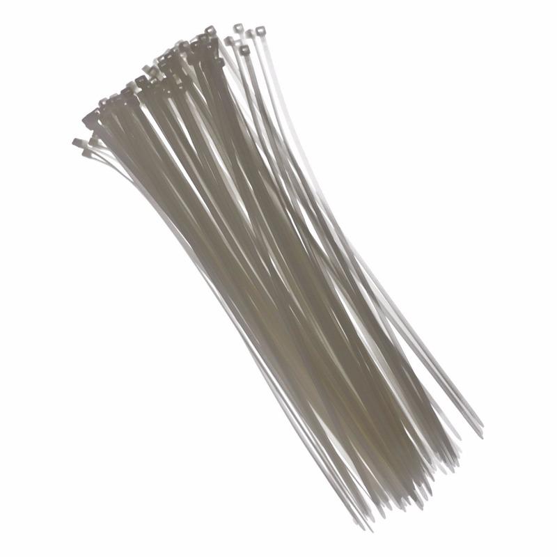 Tie-wraps wit 28 cm 100 stuks