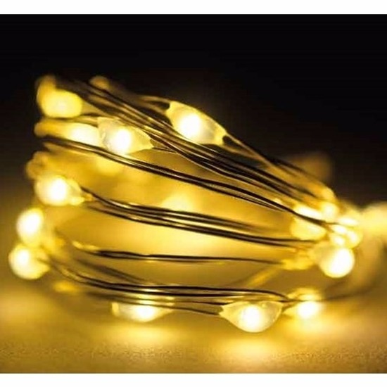 Timer draadverlichting zilverdraad 60 warm witte lampjes -295 cm