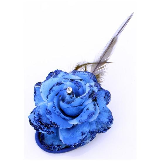 Toppers - Blauwe bloem op speld