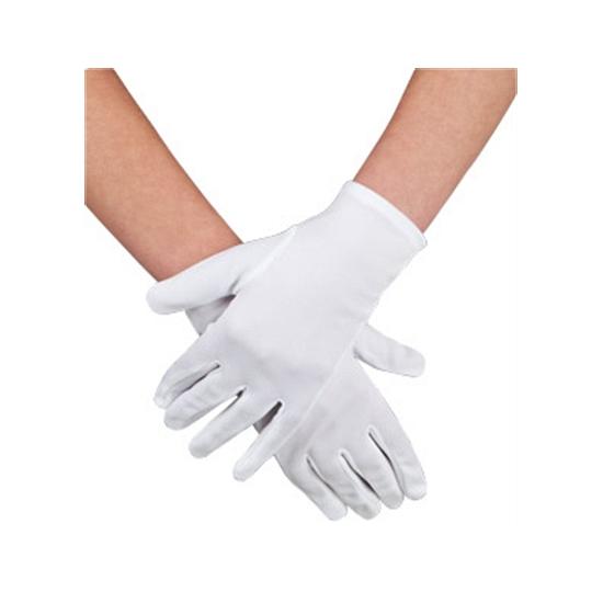 Voordelige witte verkleed handschoenen kort