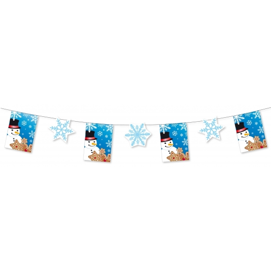 Winter decoratie slinger 300 cm