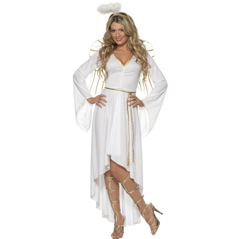 Wit engelen kostuum voor dames