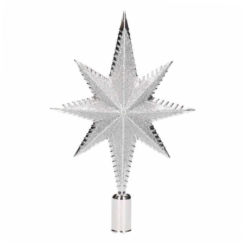 Zilveren piek ster vorm 19 cm